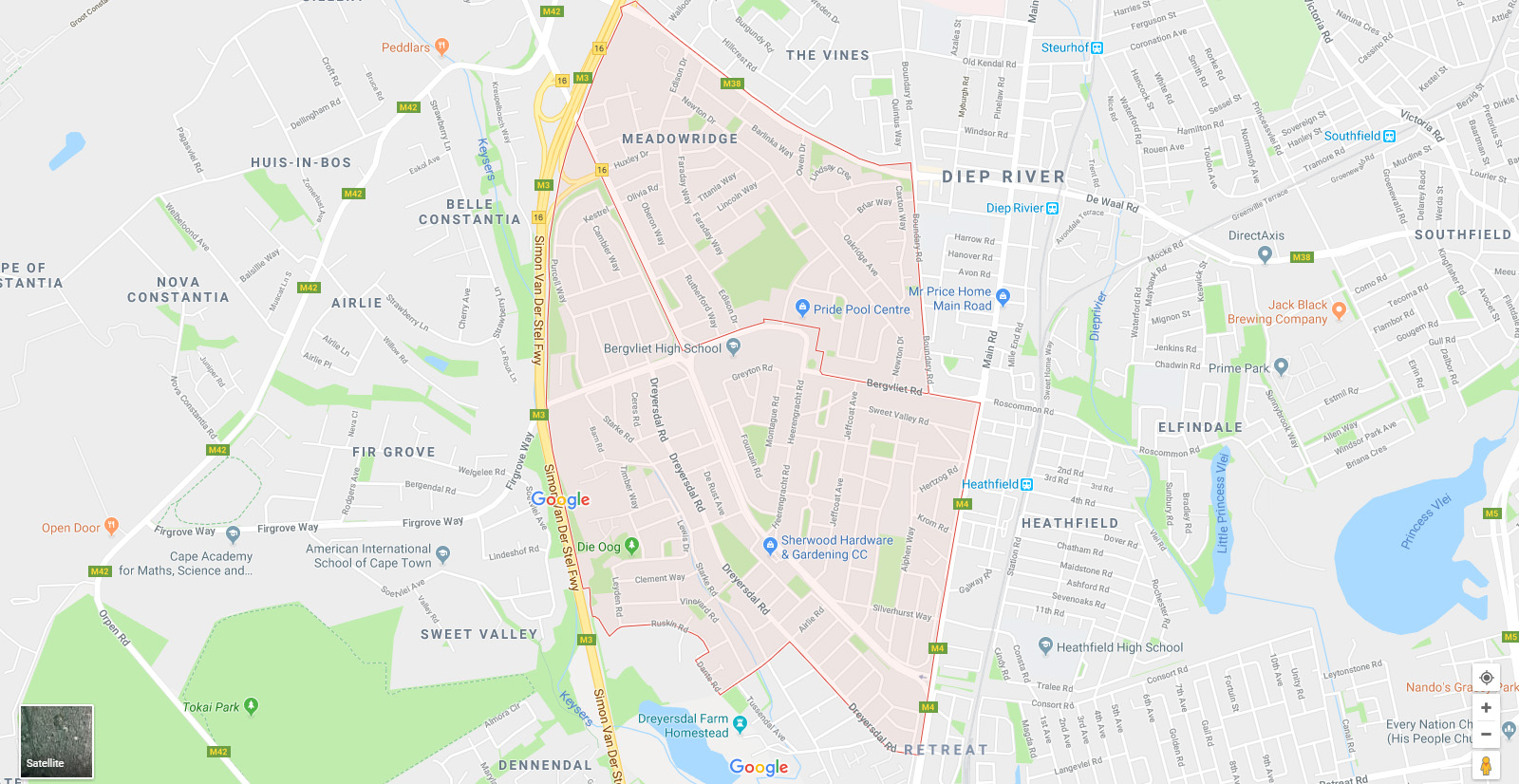 bergvliet meadowridge map