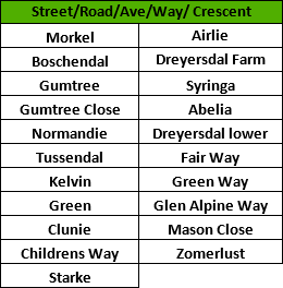 fibre street schedule